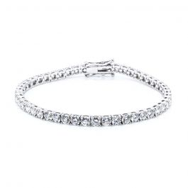 Solo Diamond Tennis Bracelet in 18k White Gold (5 1/2 ct. tw.)