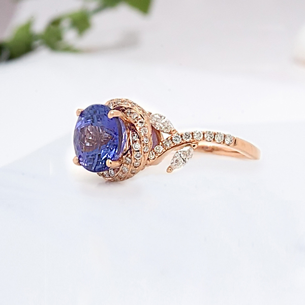 Custom Made Halo Hearted Pave Diamond Ring in 18K White Gold